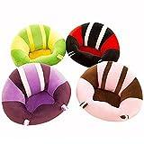 Coussin de chaise bébé / motif coloré mignon siège de bébé / Canapé Enfant / coussin de voiture / doux jouets en peluche - chaise de table ronde à mobilier pour enfants (bleu)