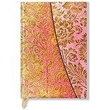 Brokatpapier - Goldene Fuchsie - Notizbuch Midi - Liniert - Paperblanks