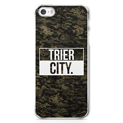 Trier City Camouflage - Handy Hülle für iPhone 5 | 5s | SE - Hard Case Cover Schutzhülle Schale Coole Bedruckte Design Geile Deutschland Militär Military Städte Hülle