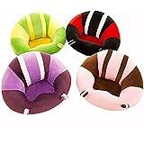 Coussin de chaise bébé / motif coloré mignon siège de bébé / Canapé Enfant / coussin de voiture / doux jouets en peluche - chaise de table ronde à mobilier pour enfants (vert)