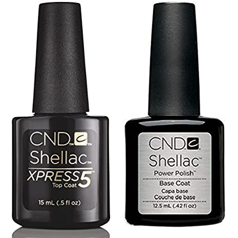 CND Shellac Base Coat, Top Coat, Top Coat & Xpress5, disponibile nelle taglie Small & Large
