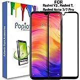 POPIO Tempered Glass for Xiaomi Redmi 7 / Xiaomi Redmi Note 7 / Redmi Note 7 Pro/Xiaomi Redmi Y3 (Transparent)-Edge to Edge Full Screen Coverage with easy installation kit