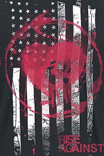 Rise Against Stained Flag T-Shirt schwarz Schwarz