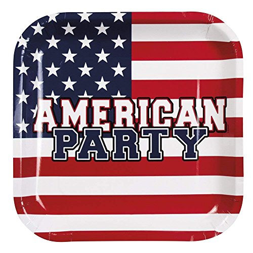 Neu: 6 Party-Teller * American Party * für Eine USA-Mottoparty | Amerika US Motto BBQ Barbecue Barbeque Pappteller Partyteller Plates
