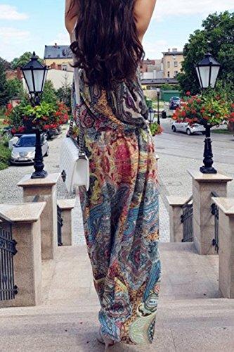 Frauen Ist Sommer Ärmellos Schulterfreien Boho Floral Long Beach - Kleid Floral