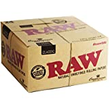 Scoria® King Size RAW Classic Rolling Paper 2 Full Box Pack Of 100 (3200 Leaves)