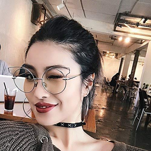 Die Persönlichkeit Katzenauge Brille belebt alte Bräuche EIN Japanisches Brillengestell zusammen Stil Literatur Metall Lou, um eine Brille für kurzsichtige Frauen Tasche Mail leer zu bekomme