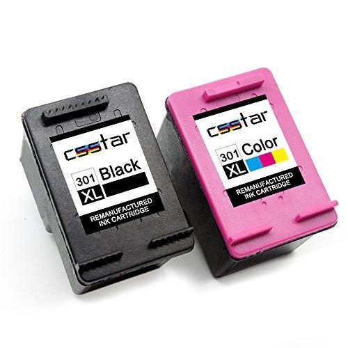 CSSTAR Wiederaufbereitet Druckerpatronen Ersatz für HP 301 XL 301XL für Envy 4504 4500 5530 5532...