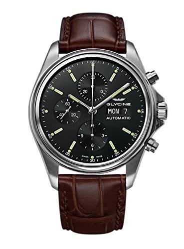 Glycine Combat Classic 3950.191. LBK7F - Orologio da polso da uomo, con cronografo, data, giorno della settimana, analogico, automatico