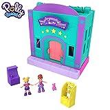 Polly Pocket  - Salón Recreativo de Juguete, Mini Muñecas con Accesorios (Mattel GFP41)
