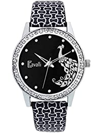 Cavalli Analogue Black Dial Women'S And Girl'S Watch-CW123