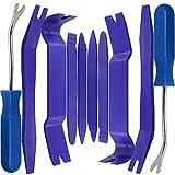 CKANDAY 10 Pezzi Kit smontaggio Pannelli Auto,Strumento di rimozione Pannello della Clip della Porta dell'auto per,cruscotto del Audio Video,Trim Automatico Dispositivo di Fissaggio dell'elemento,Blu