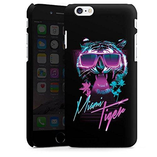 Apple iPhone X Silikon Hülle Case Schutzhülle Miami Tiger Sonnenbrille Premium Case matt