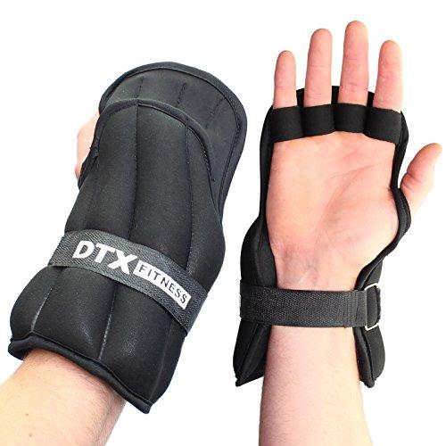 DTX Fitness Gewichtshandschuhe für das Training - Größen: 3kg, 4kg und 5kg