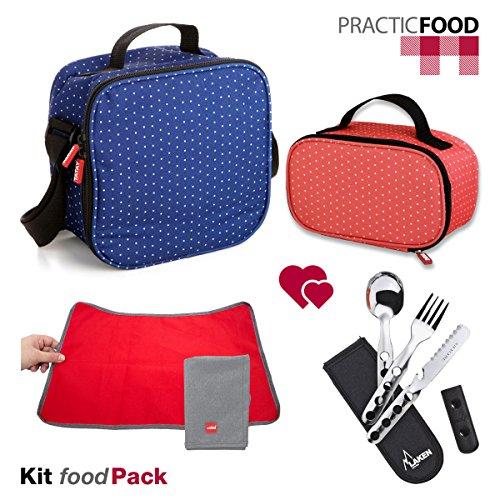 tatay-urban-food-dots-duo-2-bolsas-termicas-a-juego-porta-alimentos-con-tapers-hermeticos-set-de-cub