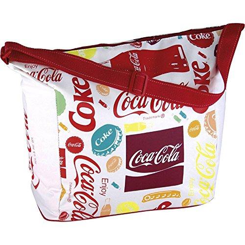 EZetil Kühltasche Coca-Cola Fun, Isoliertasche für die kühle Lagernung von Lebensmitteln und Getränken beim Camping und Picknick, auf Reisen oder beim Einkauf, Mehrfarbig, 20 L