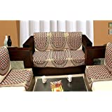 Zesture Bring Home 6 Piece Cotton Sofa and Chair Cover Set - Maroon