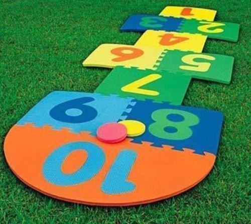 Kids Eva Garden Pub Hopscotch Scribble Toy Game Mats Children Hop Scotch Mat.