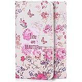 tinxi® Kunstleder Tasche für LG G5 Tasche Flipcase Schutzhülle Cover Schale Etui Skin Standfunktion mit Karten Slot You Are Beautiful