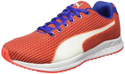 Puma Burst Mesh Wn's, Chaussures de Running Compétition Femme Rouge - Rot (Red blast-Royal Blue-puma White 01)