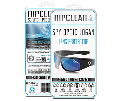 f68690df83 RIPCLEAR Sunglass Protectors for Spy Optic Logan Lens Protectors Sunglasses  - Scratch Proof Crystal Clear -