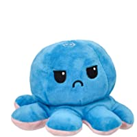 Samaaya Reversible Octopus Assorted 1 Piece Mini Plush Size - 7 cm (Baby Pink & Blue)