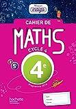 Cahier de maths Mission Indigo 4e - Mathématiques