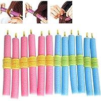 12 rodillos de pelo de espuma suave con agarre de torsión para peluquería, herramienta de peluquería.