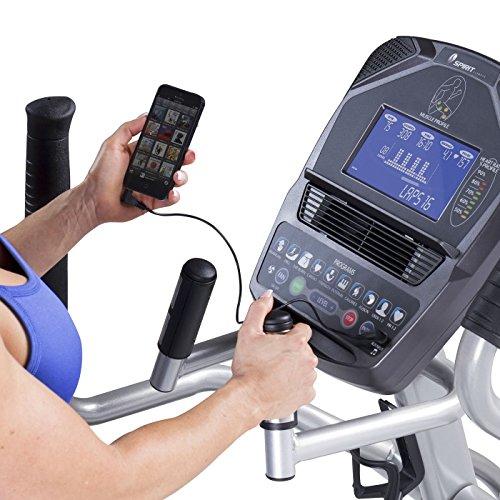 Spirit Fitness xe795Crosstrainer Cross Trainer, Fitness, Bewegung, Fitnessstudio, MP3-Audio Jack und Lautsprecher, Blau beleuchtetes LCD-Display, 12Trainingsprogramme, 40Widerstandslevel, eingebauter Ventilator, robusten Rahmen - 5