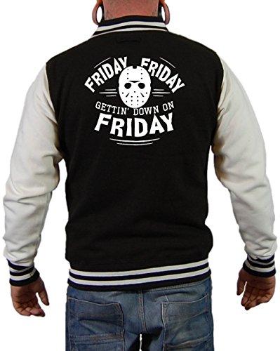 Friday 13 Jason Mask Jacke Schwarz/Weiß