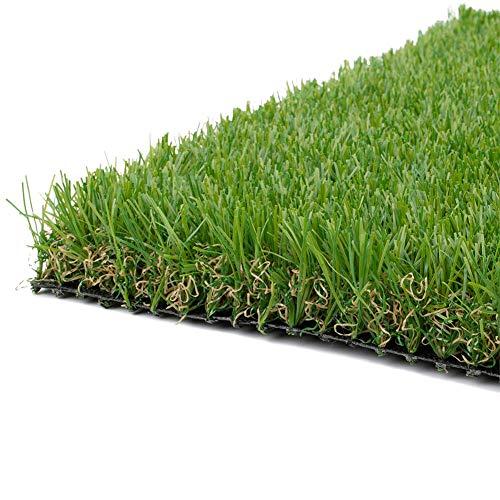 AQAWAS Kunstrasen Rasenteppich für Balkon, Ungiftig Kunstrasen Gras, Mehrere Größen, Rasen-Teppich 3CM Dicke, Garten Terrasse Deko,Green_2x3m/6x9ft