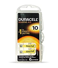 Duracell Easy Tab Hearing Aid Camera Batteries - Pack of 6 (1.45 V)