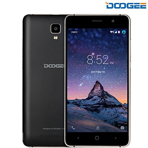 Telefonia Mobile, DOOGEE X10 Dual SIM Smartphone Android 6.0 - 3360mAh 3G Cellulari con 5.0 Pollici HD Schermo - 512M RAM+8GB ROM e 5.0MP Fotocamera Digitale - Nero