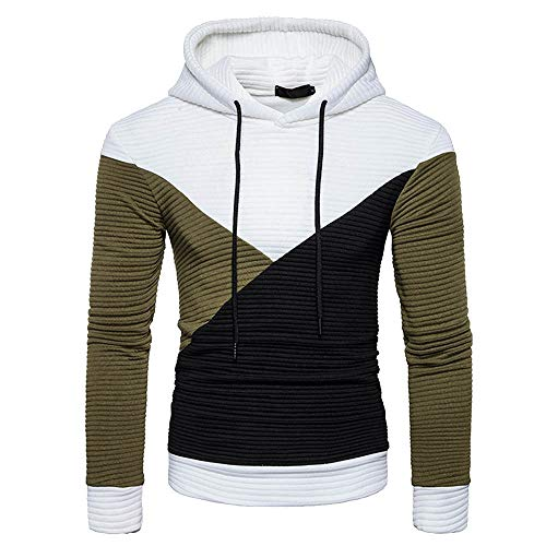 CIELLTE Homme 2019 Mode Hoodie Hooded Patchwork Sweatshirt Outwear Automne Hiver Blouson Chemise Loose Top Pull Grande Taille