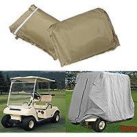 Wooya 2 Pasajeros Cubierta Taupe Proteger contra Lluvia El Sol para Carro De Golf Yamaha