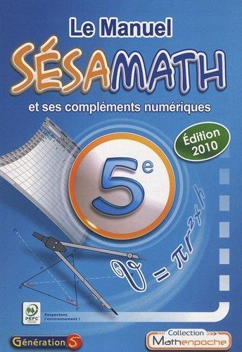 Le Manuel Sésamath 5e de Sésamath (2010) Broché