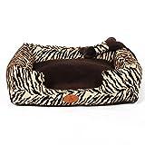 Sistemazioni per dormire Letto Rettangolare per Cani con nidi di Velluto zebrato. Letto per Animali Domestici (Size : 60cm)