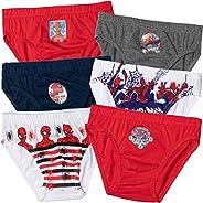 Paquete de 6 bragas de Marvel Spiderman para niños, 100% algodón, de 2 a 8 años
