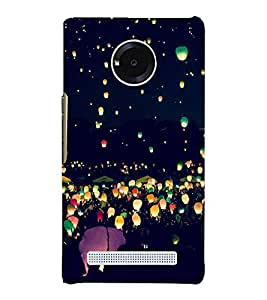 Night Lamps in Sky Hard Polycarbonate Designer Back Case Cover for YU Yunique
