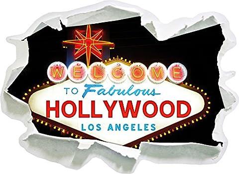 panneau d'entrée colorée Hollywood foncé, papier 3D de taille de sticker mural: 62x45 cm décoration murale 3D Stickers muraux Stickers