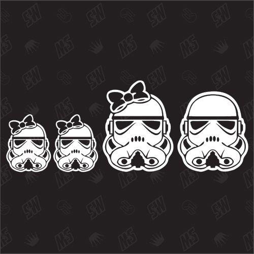 Star Wars Family with 2 little girls - Sticker
