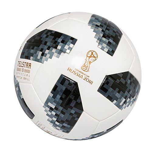 adidas Herren Fifa WM Ball, Offizieller Spielball, White/Black/Silver Metallic, 5