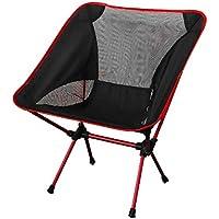NoyoKere Pratique Ultra Léger Pliant Pêche Chaise Siège pour Camping En Plein Air Loisirs Pique-Nique Plage Chaise Rouge