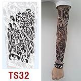 zivilverwalter hochwertiges Old School Stil temporäre Fake Rutschen auf Tattoo Arm Sleeve TS31neuen Farben Test