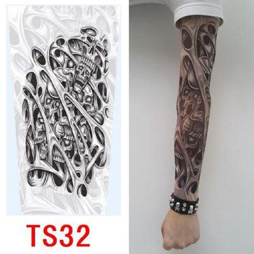 fake tattoo arm zivilverwalter hochwertiges Old School Stil temporäre Fake Rutschen auf Tattoo Arm Sleeve TS31neuen Farben