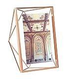 Umbra Prisma 13x18 cm Bilderrahmen – Wand- und Tisch Fotorahmen für Bilder, Kunstdrucke, Illustrationen, Graphiken und Mehr, Metall/Glas, Kupfer