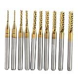 Fraise à Queue lzn simple Fraise 1mm 1.5mm 2mm 2.5mm 3mm endmühlen Titanium Coated en métal dur Gravure Bit Kit