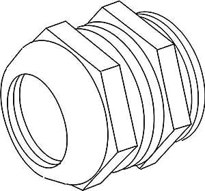 Kleinhuis–Serre-câble en laiton nickel dépoli metrica diamètre 24/35mm