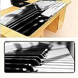 JUNHONGZHANG Noir Et Blanc Piano Grande Taille Tapis De Souris Ordinateur Jeu De...