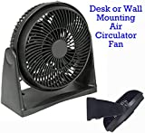 """12"""" FAN - High Velocity Fan DRUM Style - 12"""" Air Circulator FAN (Desk Fan / WALL Fan) High speed motor - Maximum air circulation - 3 fan speed - Adjustable / Tilt - FULLY ASSEMBLED - High Quality Model - ULTRA COOL Black Finish - Ideal for cooling in the home, or commercial for bar, workshop, etc. By SX EY Electronics Ltd (12"""" (30cm), Black)"""